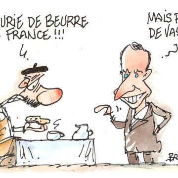 Pénurie de beurre en France… mais pas de vaseline !