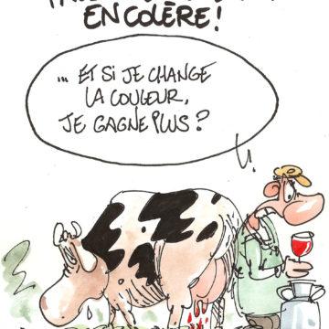 Producteur de lait en colère!