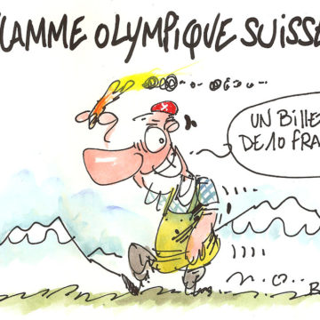 Flamme olympique suisse…